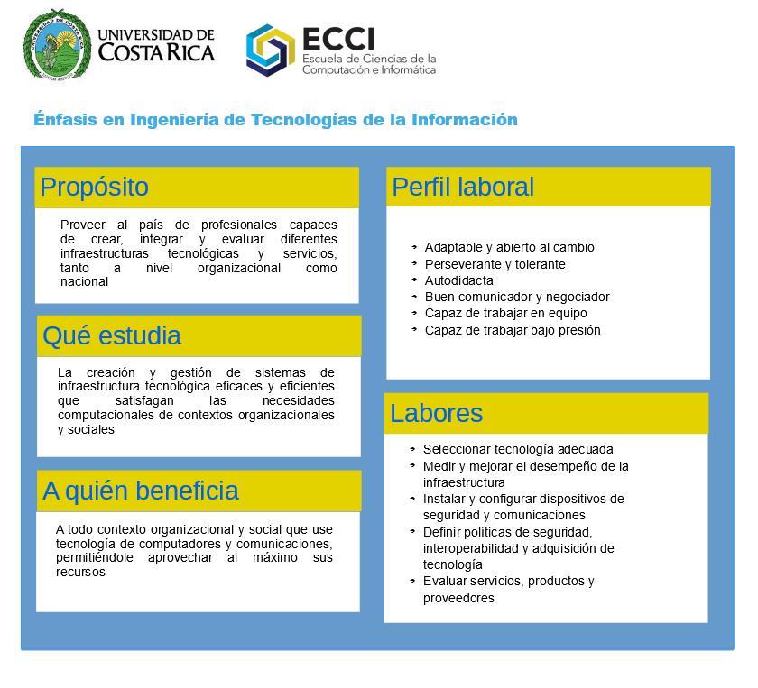 Ficha profesiográfica del énfasis en Ingeniería en Tecnologías de la Información